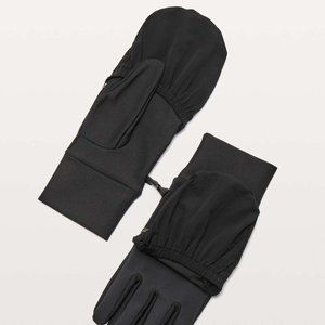 Lululemon Athletica Run Fast Gloves - Black *New*